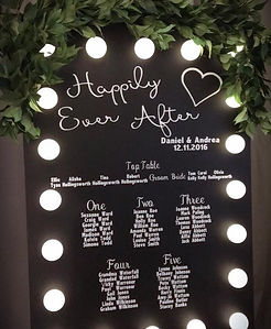 Customisable Light Up Blackboard Sign