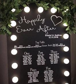 Customisable Light Up Blackboard Sign