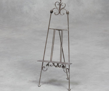 Silver Ornate Table Top Easel