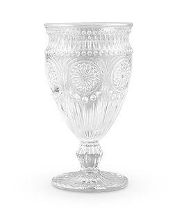 Vintage Style Pressed Glass Wine Goblet