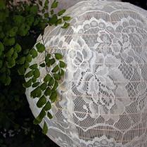 "20 "" Ivory/Beige Lace Hanging Lantern"