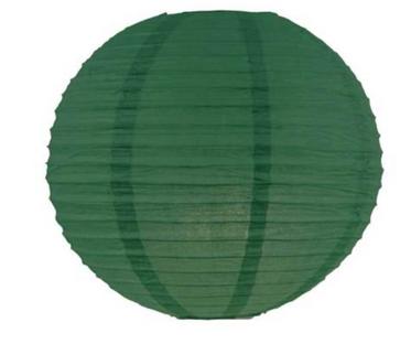 20 Inch Emerald Green Hanging Paper Lantern