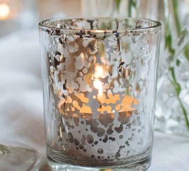 Silver Mercury Tea Light Candle Holder