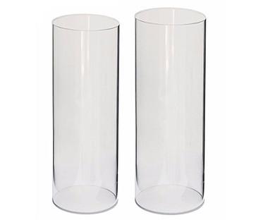 Clear Cylinder Acrylic Pedestals