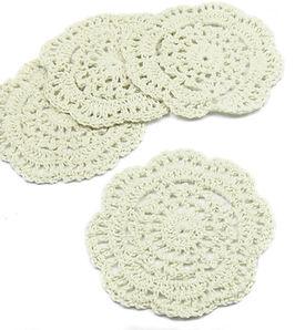 kilofly Small Crochet Cotton Lace Coaste