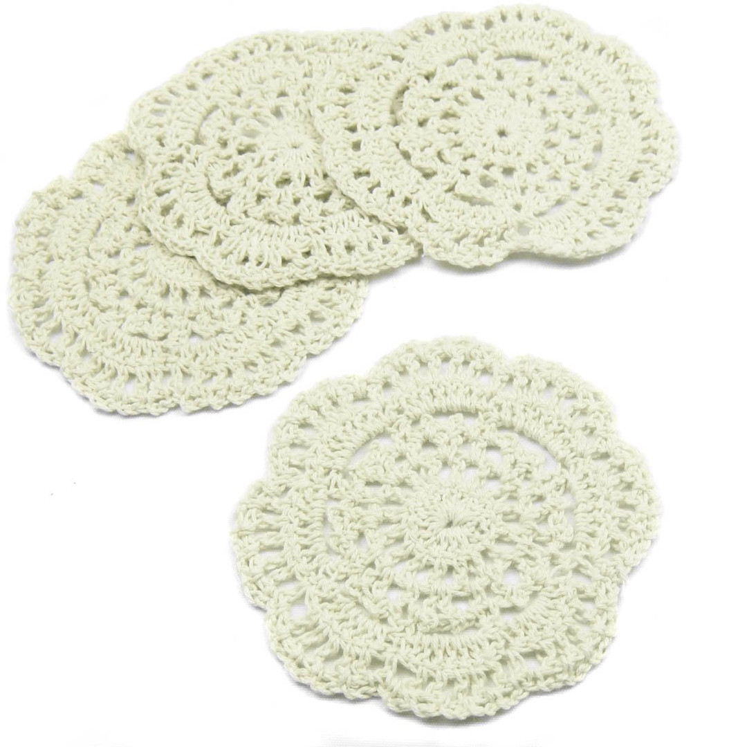 kilofly Small Crochet Cotton Lace Coaste