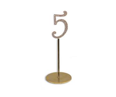Gold Diamanté Number Stand