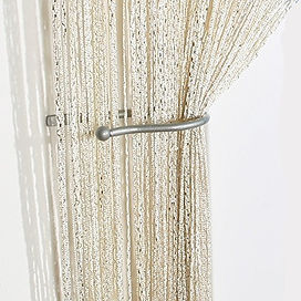 Ivory_Cream Shimmer String Curtain