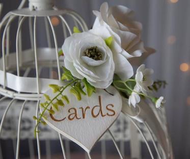 Cream Floral Bird Cage Postbox