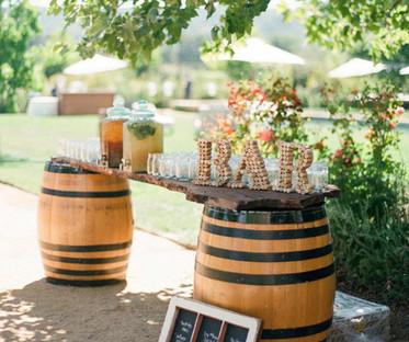 Refurbished Oak Whisky Barrel Bar or Cocktail Station
