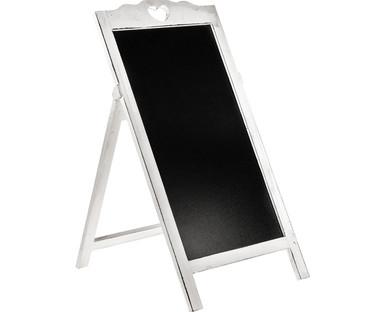 White Free Standing Floor Blackboard