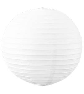 20 Inch Large White Even Ribbed Round La