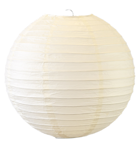 20 Inch Large Ivory Even Ribbed Round La