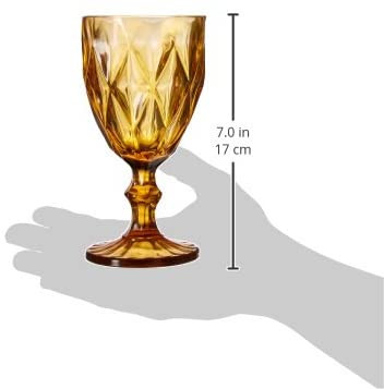 Yelllow Goblet Wine Glass
