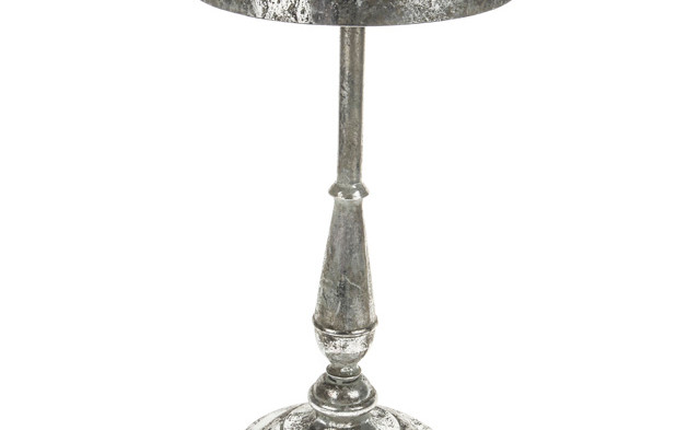 Marrakech Silver Round Small Side Table