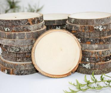 Mini Wooden Log Slices
