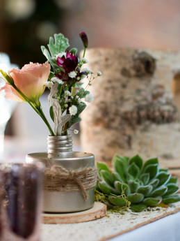 Rustic Top Table Decorations