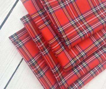 Royal Stewart, Red Tartan, Plaid Napkin Hire