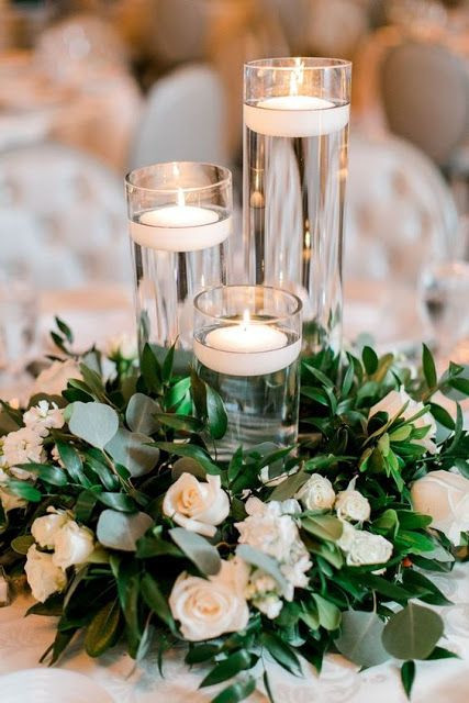 pg Clear Glass Cylinder Candle Holder Centrepiece
