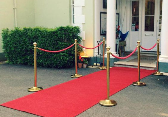 Red Velvet and Gold Queue Barrier Rope