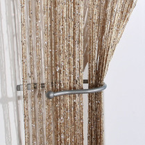 Gold_Bronze Shimmer String Curtain