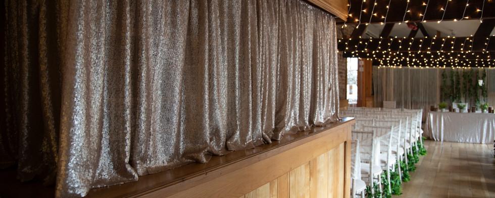 Hall Farm Hotel Mini Bar Sequin Curtain