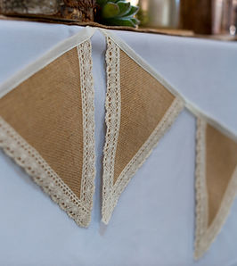 Hessian and Lace Bunting by First Impres