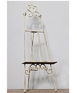 CREAM ornate metal easel.jpg