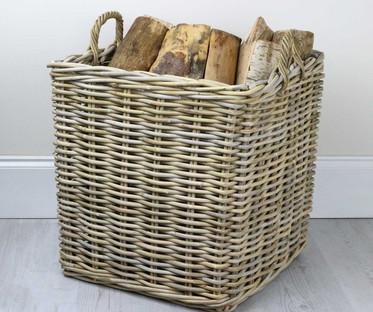 Large Square Brown Basket