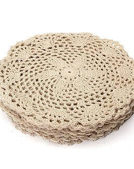 king do way 12pcs Hand Crocheted Doilies