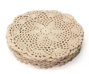 """8"""" Beige Crochet Lace Doily"""
