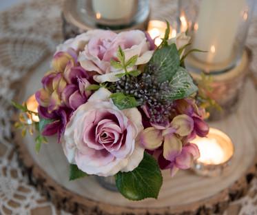 Rustic Purple Elegance Centrepiece