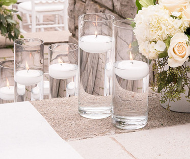 Clear Glass Cylinder Candle Holders