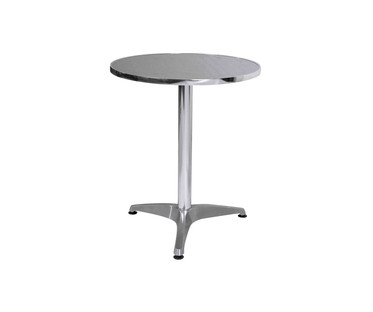 Aluminium Bistro Small Round Table