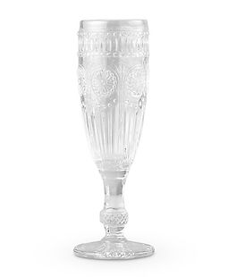 Vintage Style Pressed Glass Champagne Fl