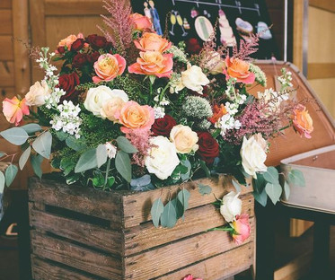 Wooden Crate Floral Display