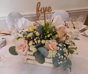 Script Font Wedding Wooden Table Numbers