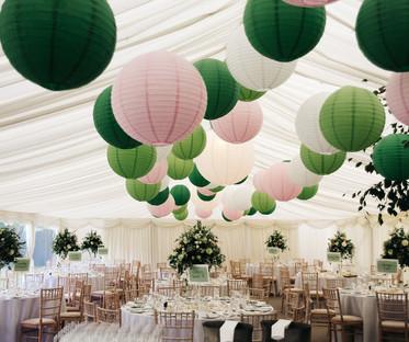 20 Inch Emerald Green Paper Lanterns