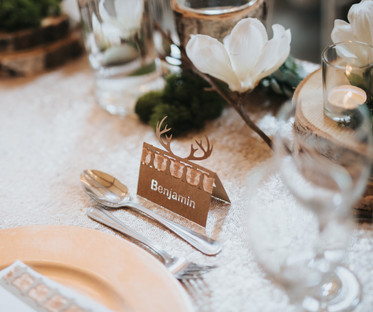 Stag Horn Name Place Card