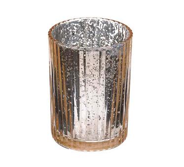 Gold / Champagne Mercury Ribbed Vase
