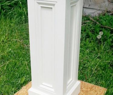 Timeless White Wooden Columns