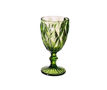 Green Goblet Wine Glass