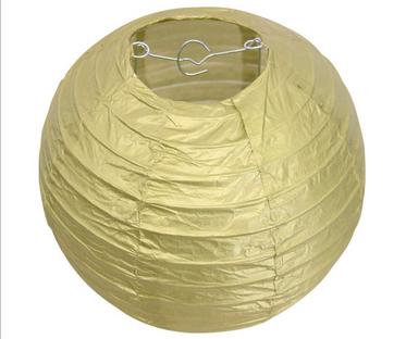 20 Inch Gold Hanging Paper Lantern