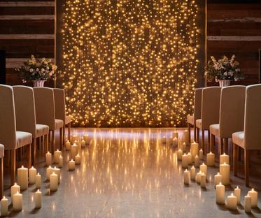 Real Ivory Wax Flamess Pillar Candles