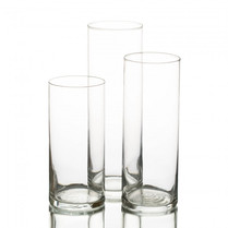 Clear Glass Cylinder Candle Holder
