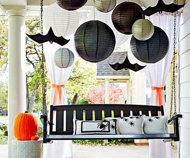 20 Inch Black Hanging Paper Lantern