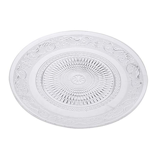 25cm Pressed Glass Bread Plate