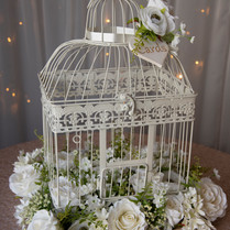 Cream Floral Birdcage Postbox