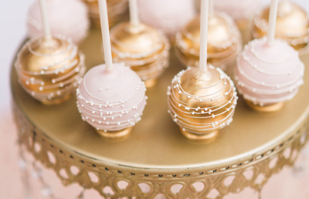 Gold Cake Stand with Crystals