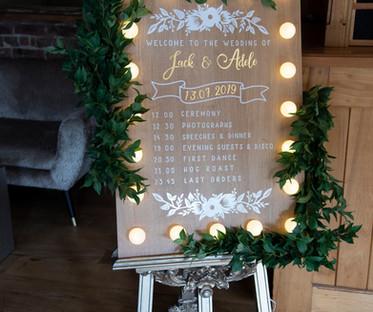 Light Up wooden Welcome / Program Board